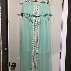 No Boundaries long strapless dress